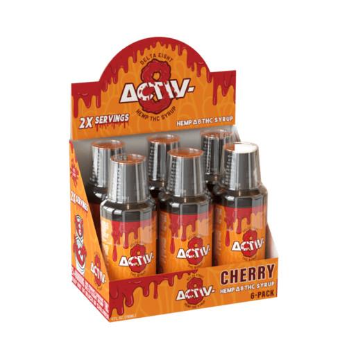Activ-8 50MG Delta 8 Hemp Syrup 4 fl oz - Display of 6 - Cherry