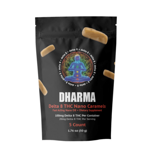 Dharma 20MG Delta 8 Nano Caramels - 5ct Pouch