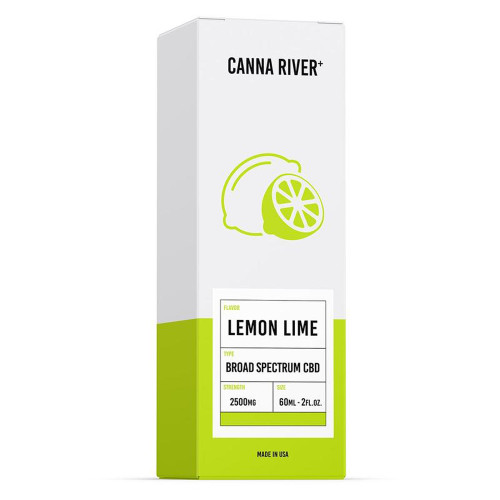 Canna River+ 2500MG Broad Spectrum CBD Oil Tincture 60ML - Lemon Lime