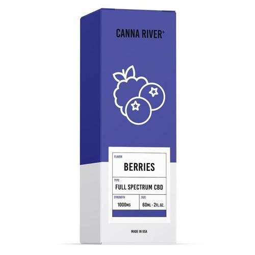 Canna River+ 1000MG Full Spectrum CBD Oil Tincture 60ML - Berries
