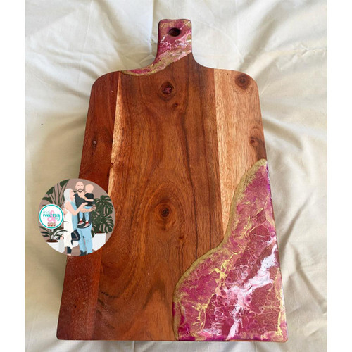 Pink & Gold Resin Board
