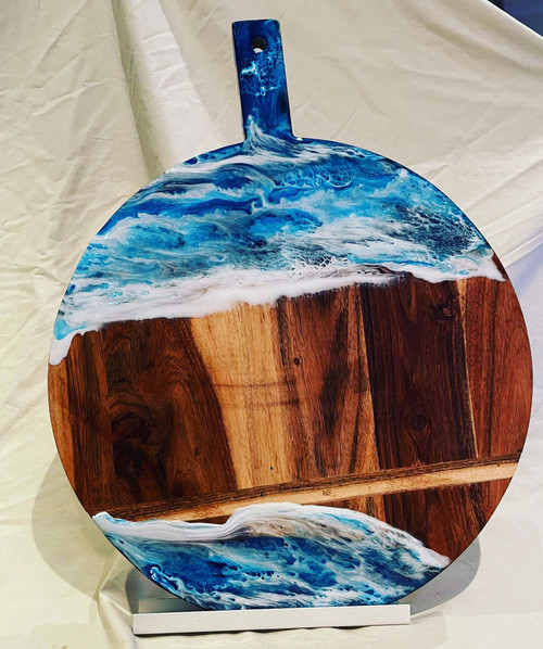 large wooden paddle ocean