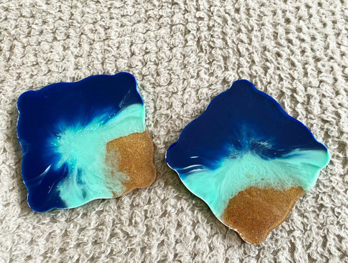 Square Ocean Coasters ( SET OF TWO)