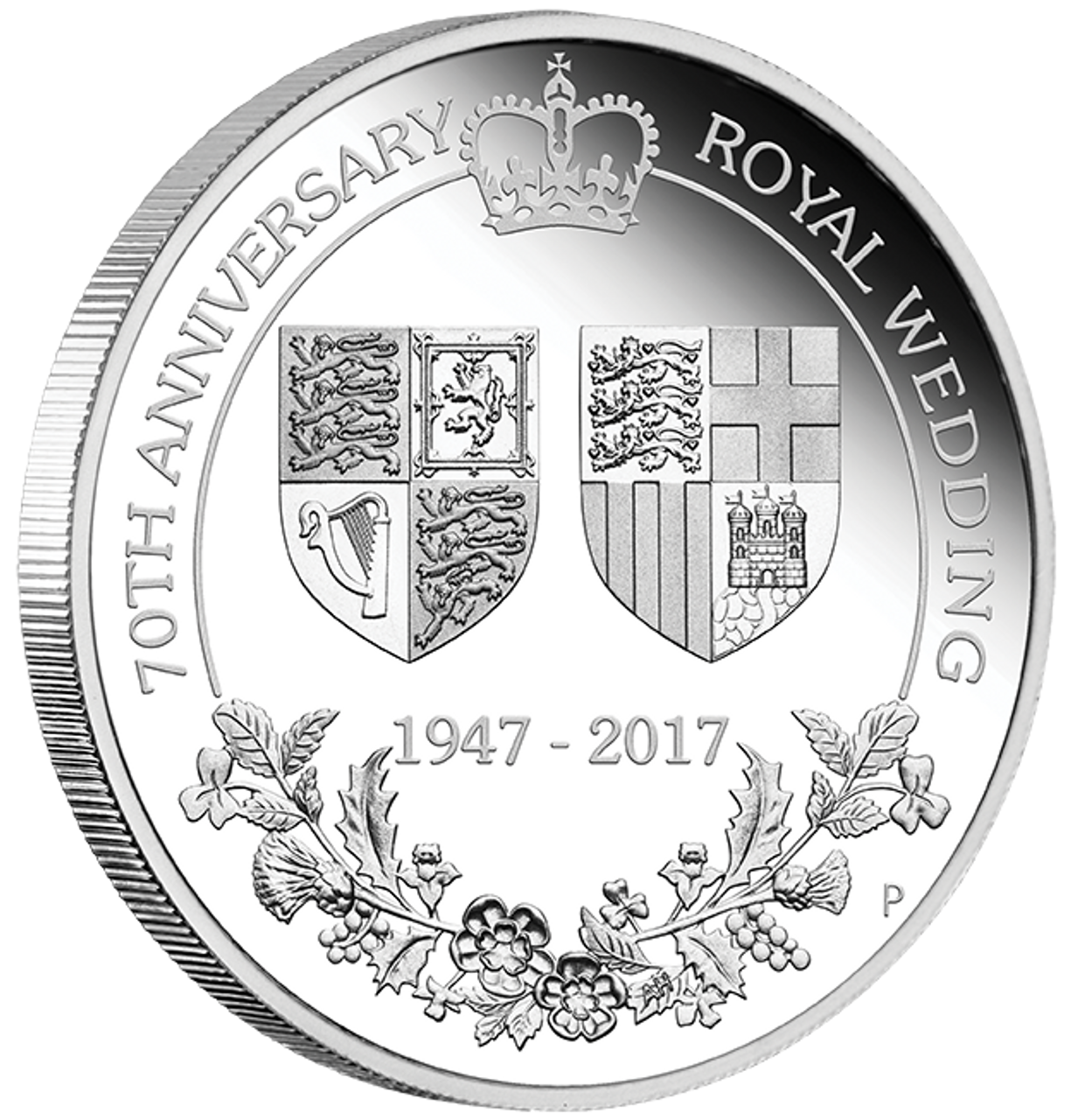 2017 1oz Silver Proof Coin 70 Anniversary Of The Royal Wedding