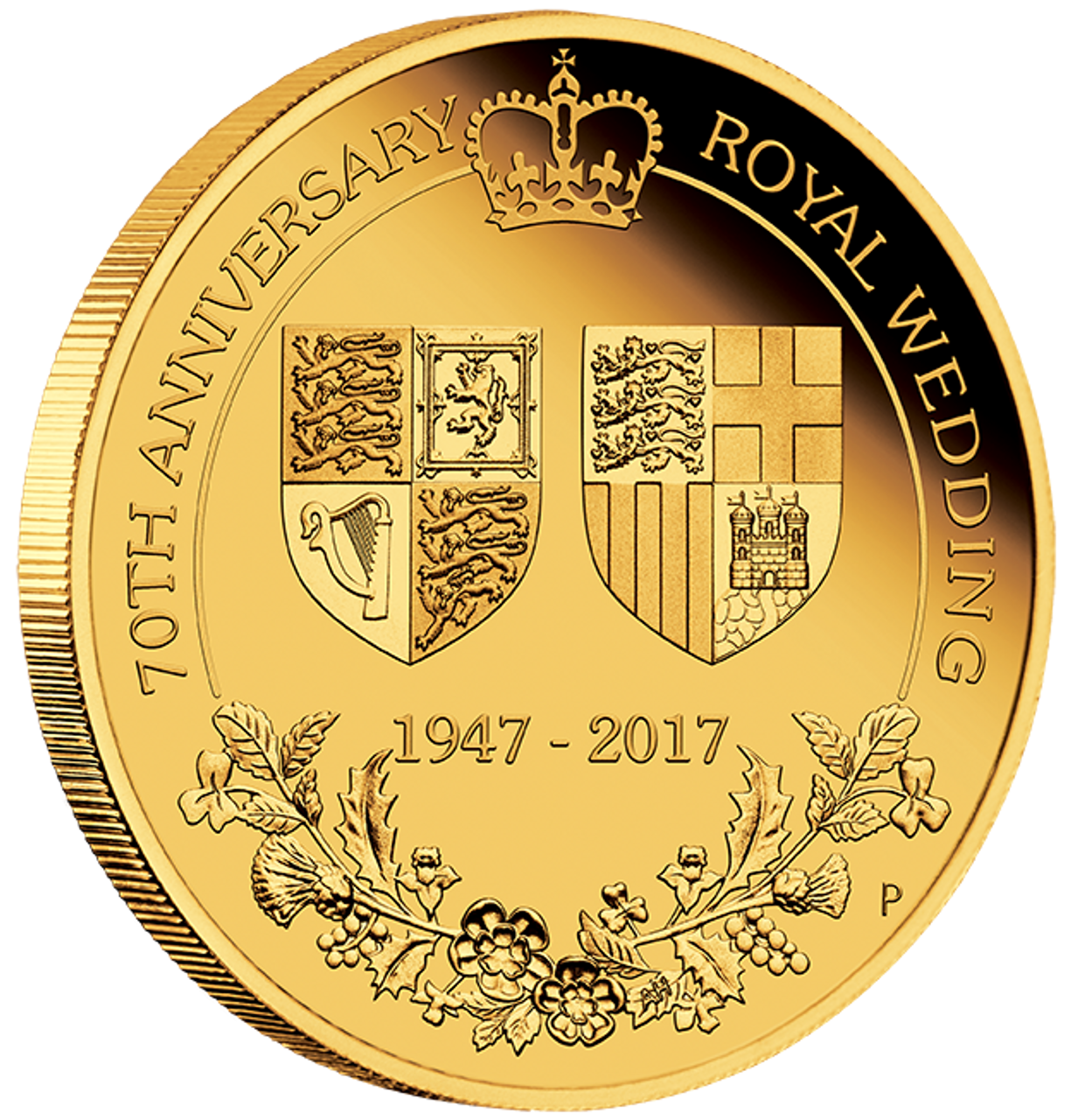2017 14oz Gold Proof Coin 70 Anniversary Of The Royal Wedding