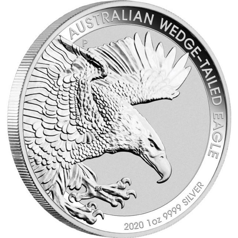 2020 Australian Wedge-Tailed Eagle 1oz Silver Bullion Coin - reverse