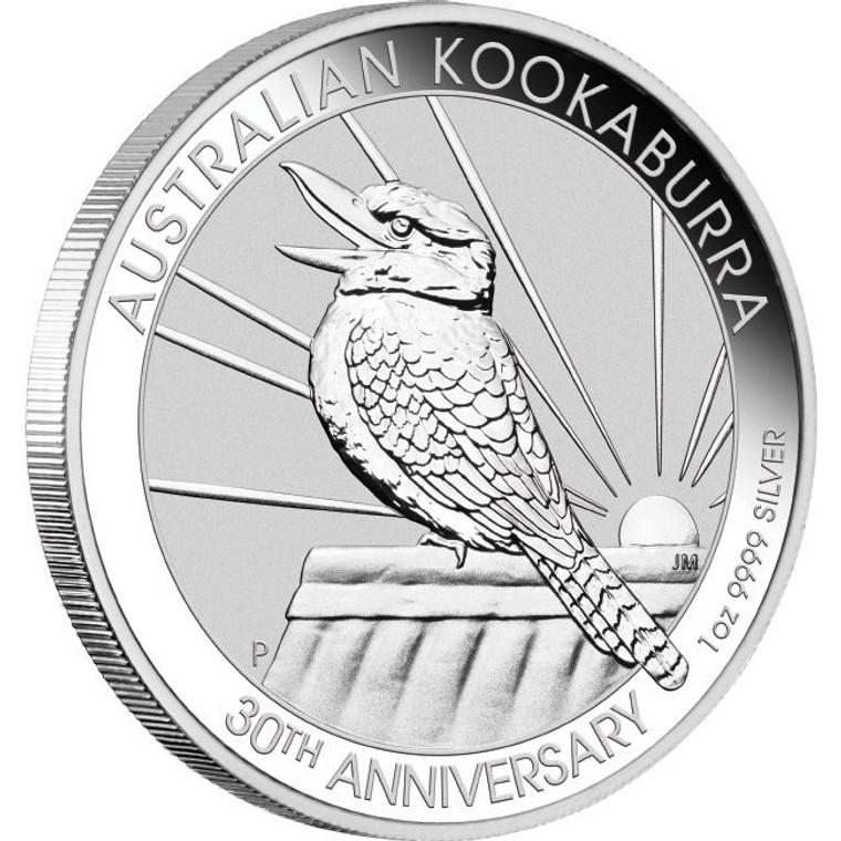 2020 Australian Kookaburra 1oz Silver Bullion Coin - reverse