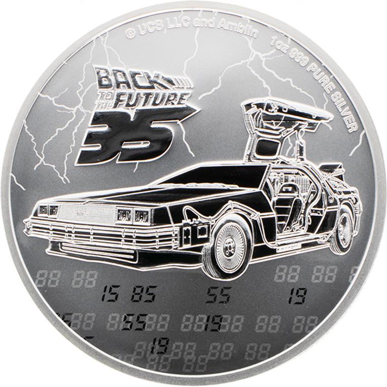 2020 Back To The Future 35th Anniversary 1oz Silver Bullion Coin - Reverse
