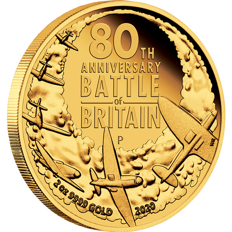 2020 80th Anniversary Of The Battle Of Britain 2oz Gold Coin - reverse
