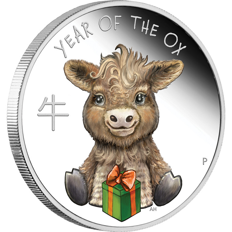 Baby Ox 2021 1/2oz Silver Proof Coin - reverse