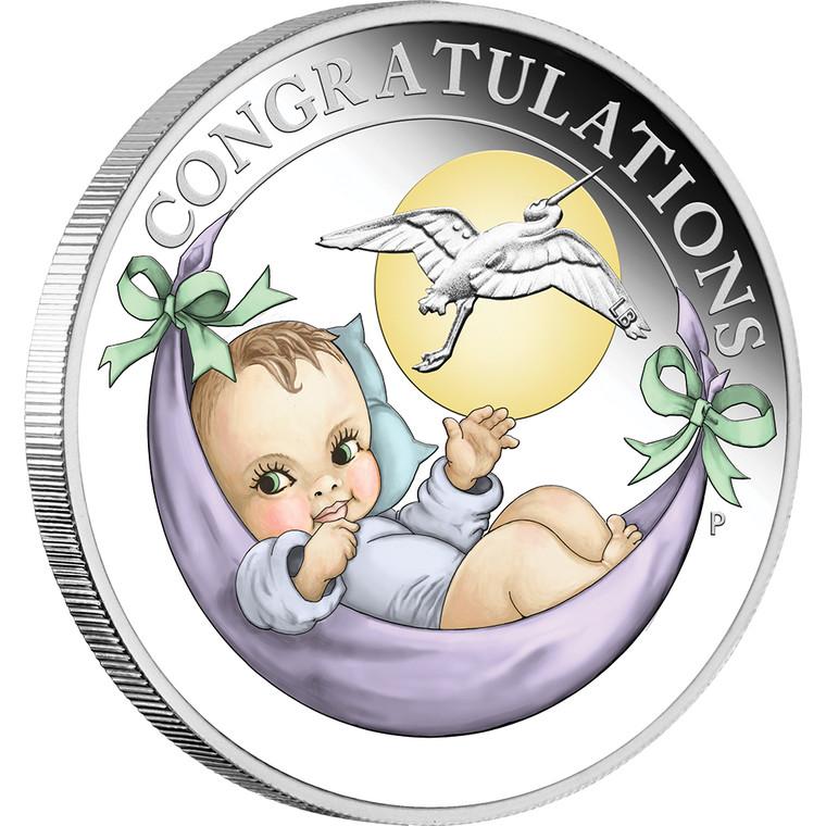 Newborn 2021 1/2oz Silver Proof Coin - reverse