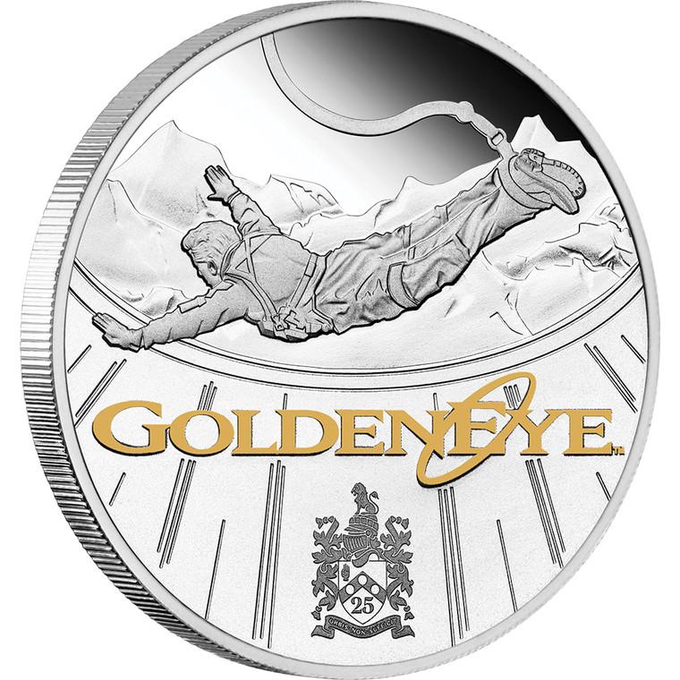 James Bond GoldenEye 25th Anniversary 2020 1oz Silver Proof Coin - reverse
