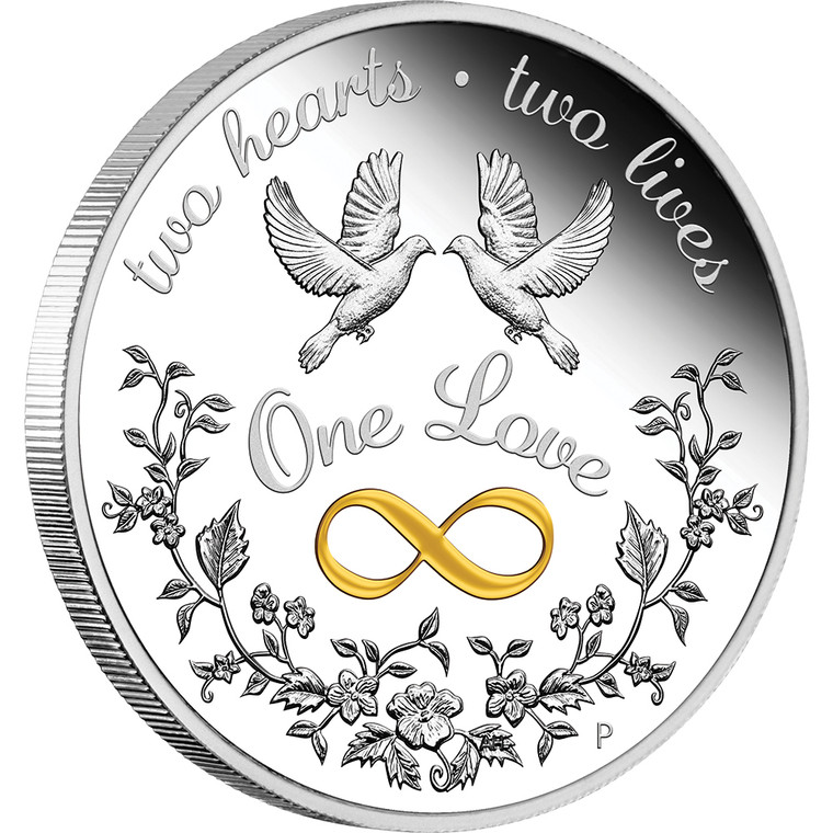 One Love 2021 1oz Silver Proof Coin - reverse