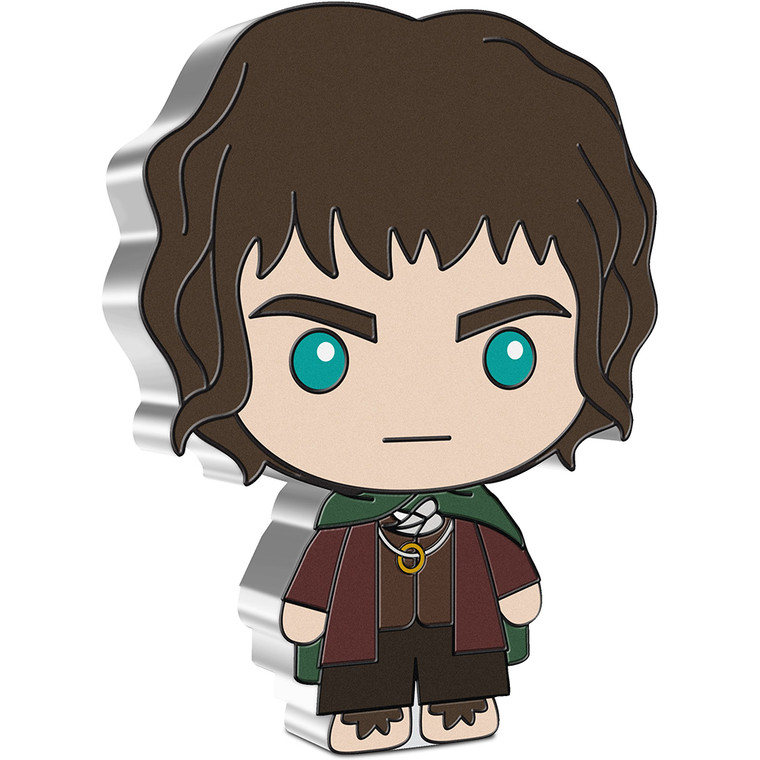 2021 Chibi THE LORD OF THE RINGS Series - Frodo Baggins 1oz Silver Coin - reverse