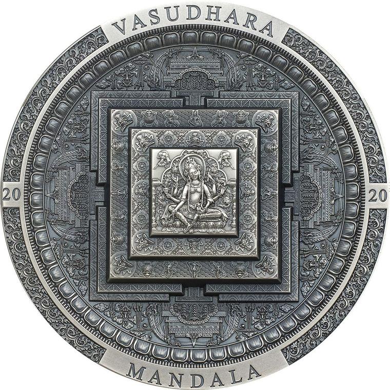 2020 Vasudhara Mandala - Archeology & Symbolism 3oz Silver Coin - reverse