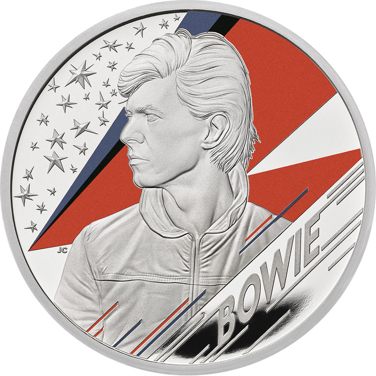 2020 £2 Music Legends - David Bowie 1oz Silver Proof Coin - reverse