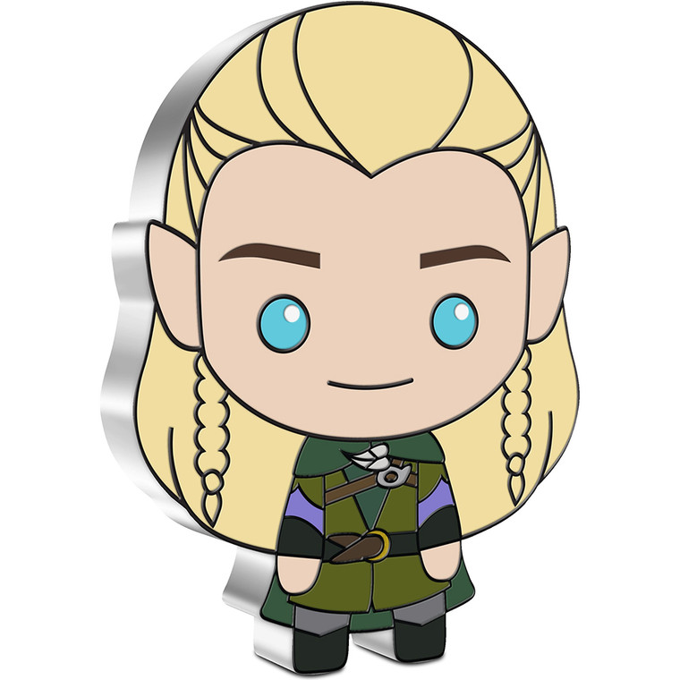 2021 Chibi THE LORD OF THE RINGS Series - Legolas 1oz Silver Coin - reverse