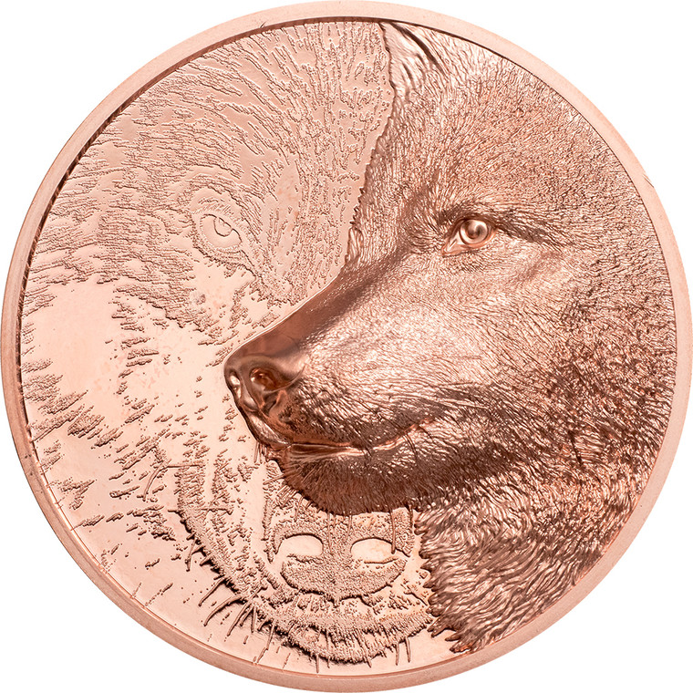 2021 Mystic Wolf 50g Copper Coin - reverse
