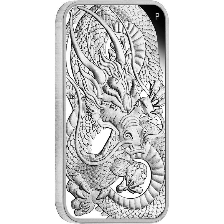 Dragon 2021 1oz Silver Proof Rectangular Coin - reverse