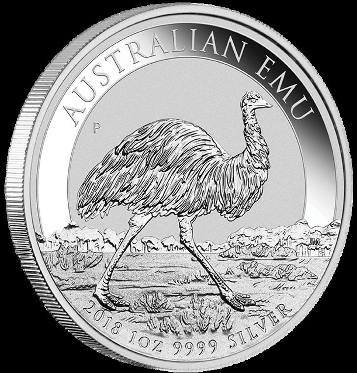 2018 Australian Emu 1oz Silver Bullion Coin