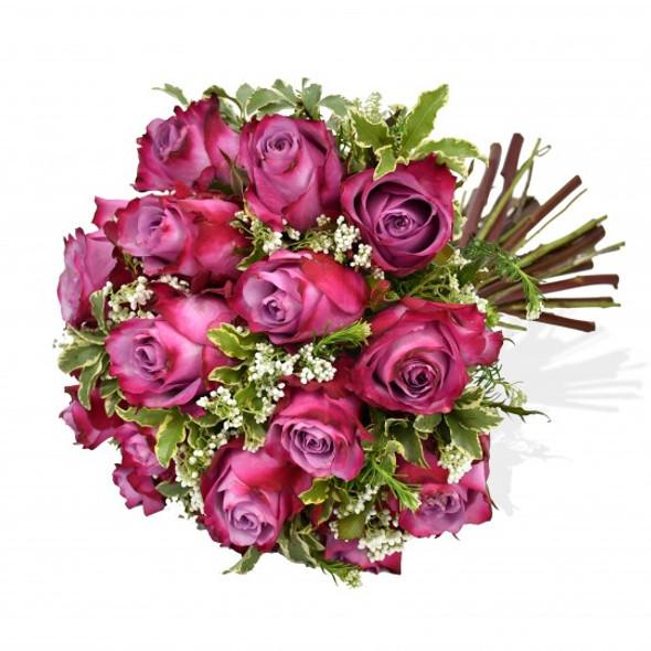 hot pink roses flower arrangement
