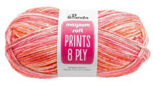 Magnum Soft 8 ply Prints – Sangria 100g