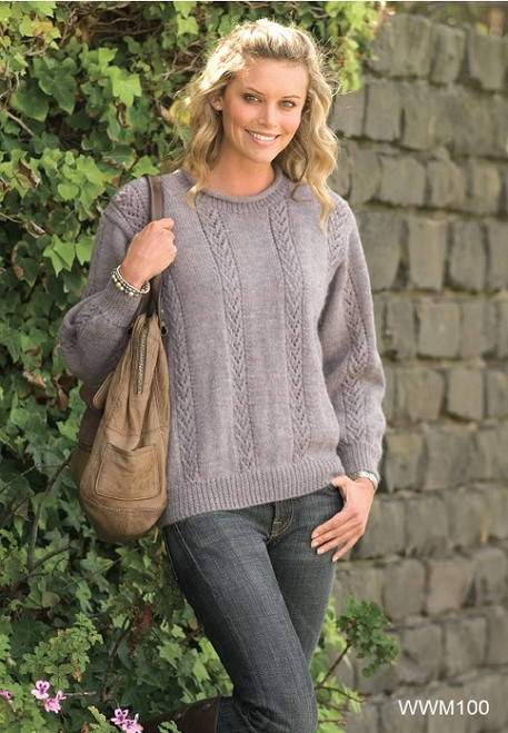 Ladies Lace Jumper 8 Ply Pattern Download