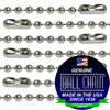 #3 Nickel Plated Steel Ball Chains with Connector - 18 Inch Length