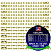 #3 Brass Plated Steel Ball Chains with Connector - 24 Inch Length