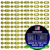 #3 Brass Plated Style Ball-Bar Style Ball Chains with Connector - 24 Inch Length