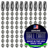 This is the same dog tag chain we manufacture for the US military.#3 Stainless Steel Ball Chains with Connector - 30 Inch Length.