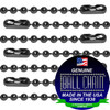 #3 Gun Metal Finish Ball Chains with Connector - 30 Inch Length