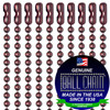 #3 Mystic Red Finish Ball Chains with Connector - 30 Inch Length