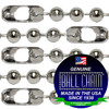 #10 Nickel Plated Steel Ball Chains with Connector - 18 Inch Length
