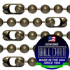 #13 Medieval Brass Finish Ball Chains with Connector - 8 Inch Length