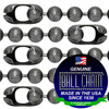 Pre- Cut #20 Chain Size Dungeon Finish Ball Chains with B Coupling Connector - 8 Inch Length.