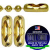 #1 Yellow Brass Connectors for use with #1 and #2 size ball chain.