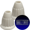 13-P White Plastic Pendants