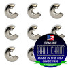 1/8 Inch Nickel Plated Brass Open Ball