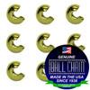 1/4 Inch Yellow Brass Open Ball