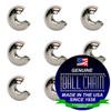 5/16 Inch Nickel Plated Brass Open Ball