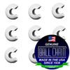 3/8 Inch White Open Ball