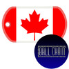 Canada Flag Color Printed Rolled Edge Stainless Steel Dog Tag
