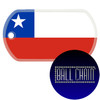 Chile Flag Color Printed Rolled Edge Stainless Steel Dog Tag