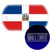 Dominican Republic Flag Color Printed Rolled Edge Stainless Steel