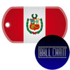 Peru Flag Color Printed Rolled Edge Stainless Steel Dog Tag