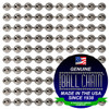 """#6 Nickel Plated Steel Faceted Style Spool with the Ball Chain Manufacturing steal """"made in the USA since 1938"""" & """"Certified Green Business"""""""