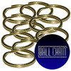 Bulk 24 mm Brass Plated Steel Split Key Rings sold at low factory direct prices by Ball Chain Manufacturing Corp. Inc.