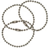 #3 Nickel Plated Steel Key Chains - 4 Inch Length