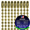 #3 Gilding Metal Key Chains - Faceted Style - 4 Inch Length